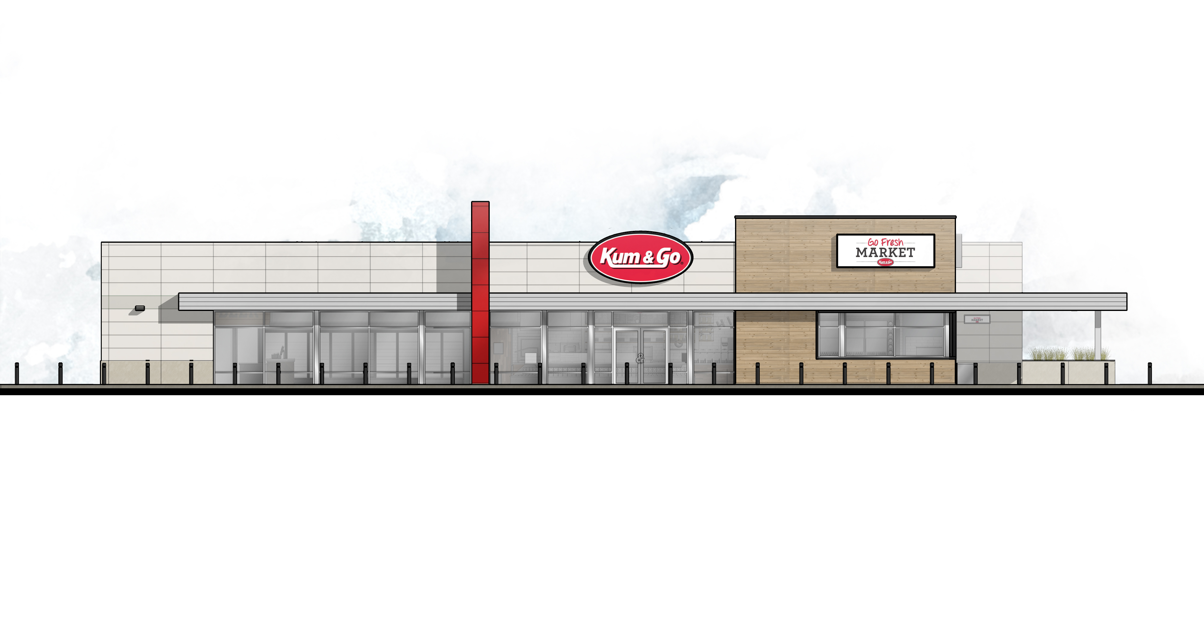 Front Elevation Of Furniture Showroom : Kum go unveils first marketplace store in johnston